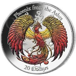 Cook Islands 2015 20$ PHOENIX Rising from the Ashes 3oz Ag Coin 3D High Relief