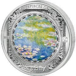 Cook Islands 2015 20$ Water lilies Claude Monet Masterpiece Art 3oz Proof Silver