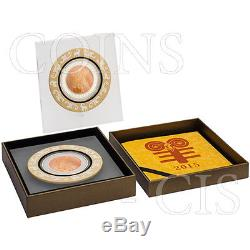 Cook Islands 2015 25$ Lunar GOAT 5oz with Mother of Pearl Proof Silver Coin