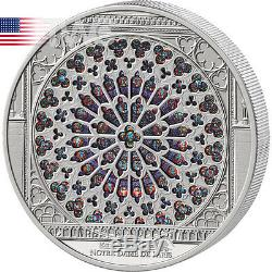 Cook Islands 2015 35$ Notre Dame Giant Windows of Heaven 10 oz Silver Coin
