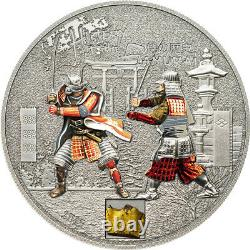 Cook Islands 2015 History of Samurai $5 Proof Silver Coin 1 Oz Armor Insert