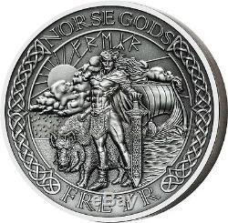 Cook Islands 2016 10$ Norse Gods IX Freyr 2oz Ultra High Relief Silver Coin