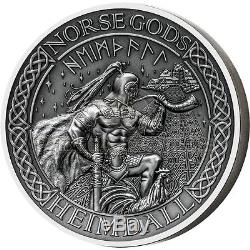 Cook Islands 2016 10$ Norse Gods V Heimdall 2oz Ultra High Relief Silver Coin