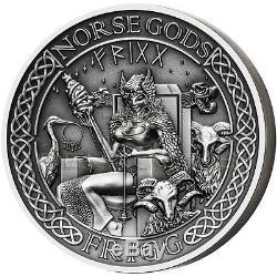 Cook Islands 2016 10$ Norse Gods VI Frigg 2oz Ultra High Relief Silver Coin