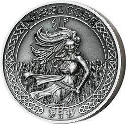 Cook Islands 2016 10$ Norse Gods VIII Sif 2oz Ultra High Relief Silver Coin