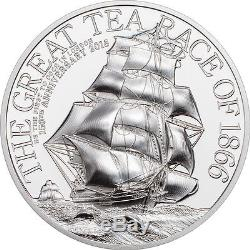 Cook Islands 2016 10$ The Great Tea Race 2oz Silver Coin Proof