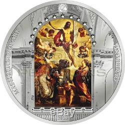 Cook Islands 2016 20$ Masterpieces of Art Resurrection of Jesus Tintoret 3oz
