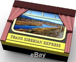 Cook Islands 2016 25$ Mother of Pearl-Trans Siberian Railway 5oz Silver Proof