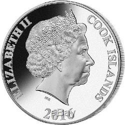 Cook Islands 2016 25$ Mother of Pearl-Year of the Monkey 5oz Silver. 999 Proof