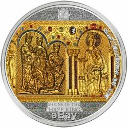 Cook Islands 2016 Masterpieces of Art Shrine of the three Kings Silver Gold Coin