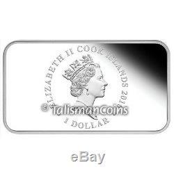 Cook Islands 2016 Year Monkey Lunar 4 Coin Rectangle $1 Rectangular Silver Set