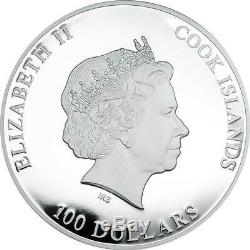 Cook Islands 2017 100$ Crystal Giant Moravian Star 1 Kg Silver Coin