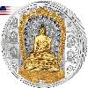 Cook Islands 2017 20$ 25$ Shakyamuni Buddha Masterpieces Of Art 3oz Proof Ag/Au