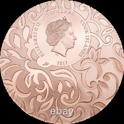 Cook Islands 2017 $5x3 Scarabs III Solar Zenith 3x1oz Silver Proof Coins Set