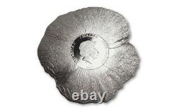 Cook Islands 2017 Remembrance Poppy 3D Silver Coin
