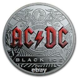 Cook Islands 2018 $10 AC/DC Black Ice 2 Oz Proof Silver Coin