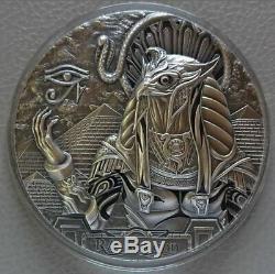 Cook Islands 2018 20$ RA Egypt Sun God 3 Oz Antique Silver Coin