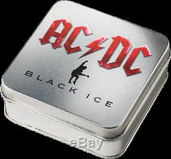 Cook Islands 2018 AC/DC Black Ice Proof Silber ACDC 10 Dollar