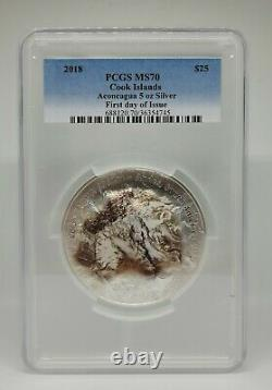 Cook Islands 2018 Seven Summits Aconcagua PCGS MS70 First Day of Issue