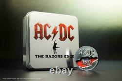 Cook Islands 2019 10$ AC/DC The Razors Edge 2 Oz Proof Silver Coin