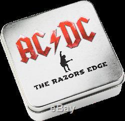Cook Islands 2019 10$ AC/DC The Razors Edge 2 Oz Silbermünze