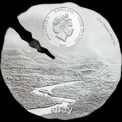 Cook Islands 2019 Estacado Meteorite Silver Coin. Condition NEW. Superb