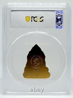 Cook Islands 2019 Lord Ganesha 3 oz Gilded Silver Coin PCGS MS70 FDoI