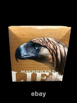 Cook Islands (2019) Magnificent Life Philippine Eagle 1oz silver coin (5 NZ$)