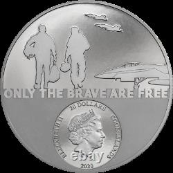 Cook Islands 2020 20$ Fighter Pilot Real Heroes 3 Oz Silver Coin