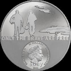 Cook Islands 2020 20$ Real Heroes Fighter Pilot 3 Oz Black Proof Silver Coin