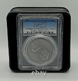 Cook Islands 2020 $5 Silver Coin Still Trapped Antiqued PCGS MS70