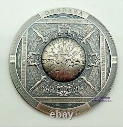 Cook Islands 2020 Archeogy and Symbolism Dendera Zodiac Silver Coin
