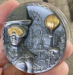 Cook Islands 2020 STEAMPUNK 3oz Silver Coin. Limited Edition