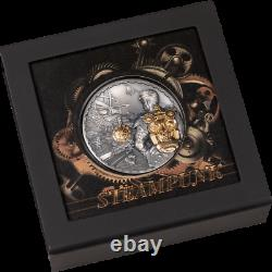 Cook Islands 2021 20$ JET PACK Steampunk Gilded 3 Oz Silver Coin