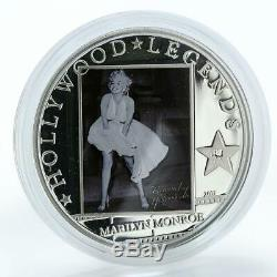 Cook Islands $5 Hollywood Legends Marilyn Monroe silver, proof, coin 2011