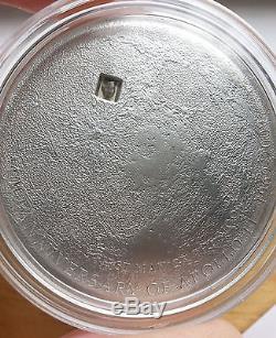 Cook Islands $5 Moon 40th & 50th Anniversary Lunar Meteorite silver 2009 Coin