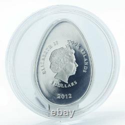 Cook Islands 5 dollars Imperial Eggs in Cloisonne Egg in Violet silver 2012