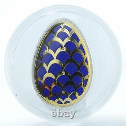 Cook Islands 5 dollars Imperial Eggs in Cloisonne Egg pine cone silver 2012