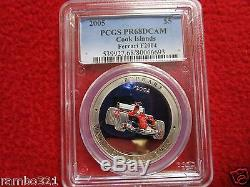 Cook Islands Is. 2005 $5 Ferrari F2004 PCGS PR68 Silver Coin Bullion LOW POP CAR
