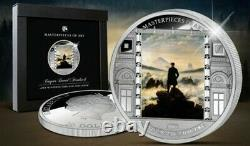 Cook Islands Masterpieces of Art WANDER ABOVE THE SEA OF FOG Proof Silver Coin
