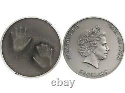 Cook Islands STILL TRAPPED TRAP (HANDS) $5 1oz Silver Antique Finish 2020 BOXCOA