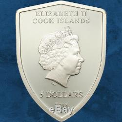 Cook Islands Scuderia Ferrari 5$ 2013 PP Silber Shield Silver 5 $