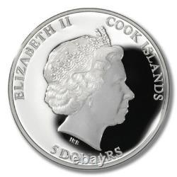 Cook Islands Seymchan Meteorite $5 2012 Genuine Embedded Fragment Mint Tin & COA