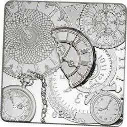 Cook Islands TIME CAPSULE Square Shaped 1 Oz Silver Proof Coin 2017