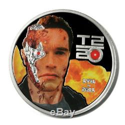 Cook Islands Terminator 2 Judgement Day 3 Coins 2011 Proof Silver Crowns CPU Chi