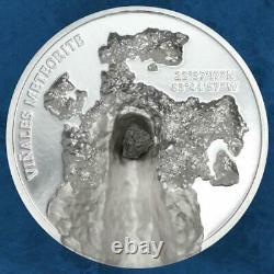 Cook Islands Vinales Meteorite 5 $ 2020 Proof / PP Silber