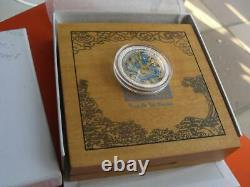 Cook Islands Year of the Dragon Colorized Silver 1 Oz 2012 year