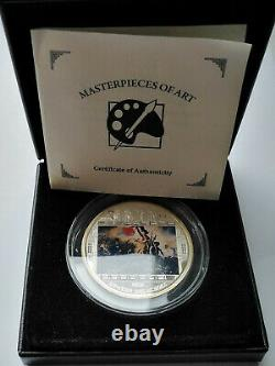 Cook isl. 20 dollar 2013 Masterpieces of Art Liberte de la Croix 3 Oz Silver