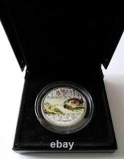 Cook islands 20 dollar 2008 Masterpieces of Art Creation of Adam 3 Oz Silver