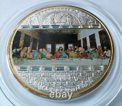 Cook islands 20 dollar 2008 Masterpieces of Art Last supper 3 Oz Ag box 2